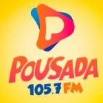 Logo da emissora Rádio Pousada 105.7 FM