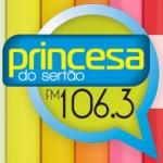 Logo da emissora Rádio Princesa do Sertão 106.3 FM