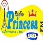 Logo da emissora Rádio Princesa 98.1 FM