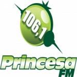 Logo da emissora Rádio Princesa 106.1 FM