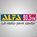 Logo da emissora Radio Alfa 93.5 FM