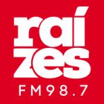 Logo da emissora Rádio Raízes 98.7 FM