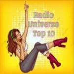 Logo da emissora Rádio Universo Top 10