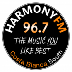 Logo da emissora Radio Harmony 96.7 FM