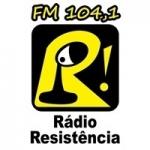 Logo da emissora Rádio Resistência 104.1 FM