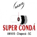 Logo da emissora Rádio Super Condá 610 AM