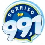 Logo da emissora Rádio Sorriso 99.1 FM