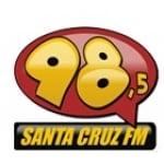 Logo da emissora Rádio Santa Cruz 98.5 FM