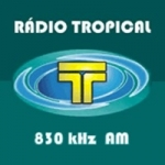 Logo da emissora Rádio Tropical 830 AM