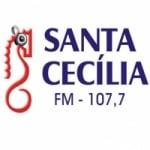 Logo da emissora Rádio Santa Cecília 107.7 FM