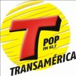 Logo da emissora Rádio Transamérica Pop 92.7 FM