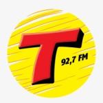 Logo da emissora Rádio Transamérica 92.7 FM