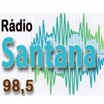 Logo da emissora Rádio Santana 98.5 FM