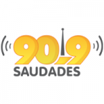 Logo da emissora Rádio Saudades 90.9 FM