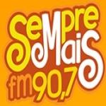 Logo da emissora Rádio Sempre Mais 90.7 FM