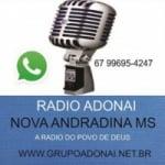 Logo da emissora Rádio Adonai Nova Andradina