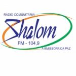 Logo da emissora Rádio Shalom 104.9 FM