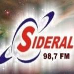 Logo da emissora Rádio Sideral 98.7 FM