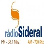 Logo da emissora Rádio Sideral 700 AM
