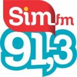 Logo da emissora Rádio SIM 91.3 FM