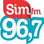 Logo da emissora Rádio SIM 96.7 FM