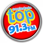 Logo da emissora Rádio Sociedade Top 91.3 FM