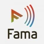 Logo da emissora Radio Fama 105.0 FM