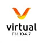 Logo da emissora Rádio Virtual 104.7 FM