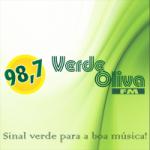 Logo da emissora Rádio Verde Oliva 98.7 FM