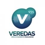 Logo da emissora Rádio Veredas 93.5 FM