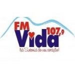 Logo da emissora Rádio Vida FM Educativa 107.9