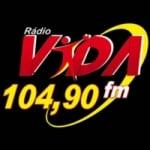 Logo da emissora Rádio Vida FM Gospel 104.9