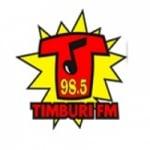 Logo da emissora Rádio Timburi 98.5 FM