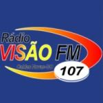 Logo da emissora Rádio Visão 107 FM