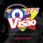 Logo da emissora Rádio Visão 87.9 FM