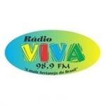 Logo da emissora Rádio Viva 98.9 FM