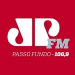 Logo da emissora Rádio Jovem Pan 106.9 FM