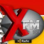 Logo da emissora Rádio X FM 98.9