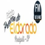 Logo da emissora Rádio Princesa do Eldorado 107.9 FM