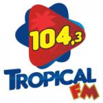 Logo da emissora Rádio Tropical 104.3 FM