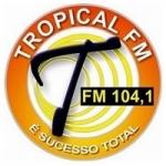 Logo da emissora Rádio Tropical 104.1 FM