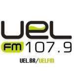 Logo da emissora Rádio UEL 107.9 FM