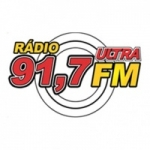Logo da emissora Rádio Ultra 91.7 FM