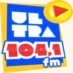 Logo da emissora Rádio Ultra 104.1 FM