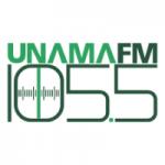 Logo da emissora Rádio Unama 105.5 FM