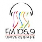 Logo da emissora Rádio Universidade 106.9 FM