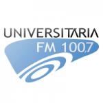 Logo da emissora Rádio Universitária 100.7 FM