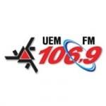 Logo da emissora Rádio Universitária 106.9 FM