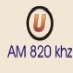 Logo da emissora Rádio Universitária 820 AM