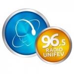 Logo da emissora Rádio Unifev 96.5 FM